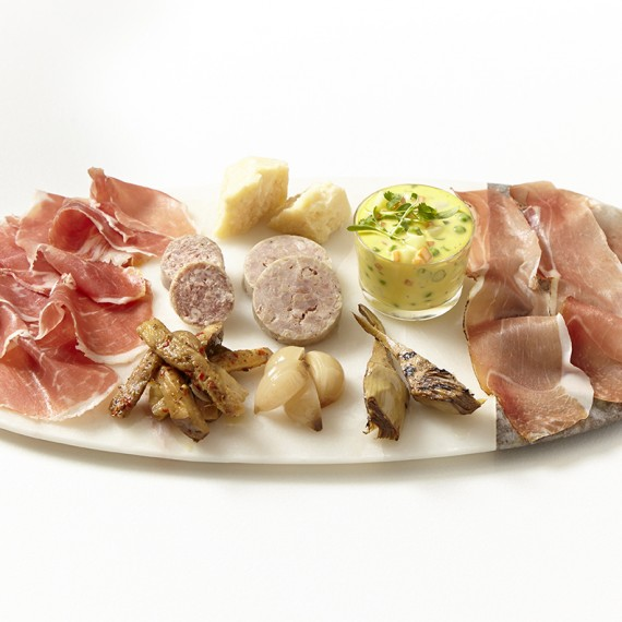 Italian meat and cheese platter