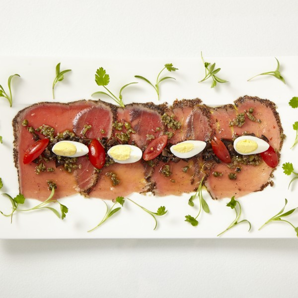Wild fresh catch Ahi Tuna carpaccio
