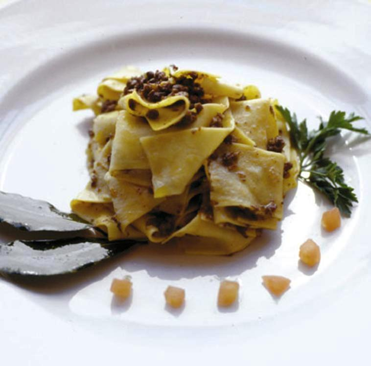 Homemade Hare Pappardelle,Chicago Authentic Italian cuisine Chicago